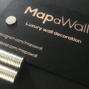 MapaWall world map disc-magnets D1H8
