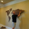 Installing a MapaWall world map Walnut XL