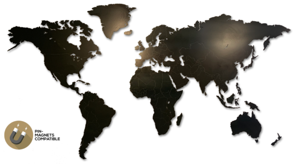 MapaWall-world-map-Black-Steel