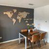 MapaWall Arctic Red:Yellow StoneCut world map