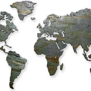 MapaWall-StoneCut-world-map-Rusty-Lady
