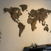 MapaWall StoneCut world map Brown marble