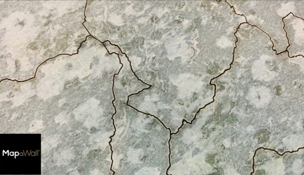 MapaWall StoneCut Green Lime world map